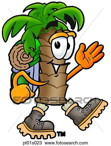 Clipart palmier randonn e pt01s023 recherchez des clip arts des illustrations des dessins - Palmier clipart ...