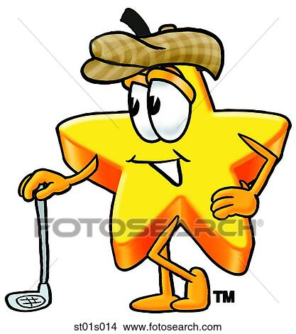clipart of star with golf club st01s014 search clip art rh fotosearch com club clipart black and white lions club clipart