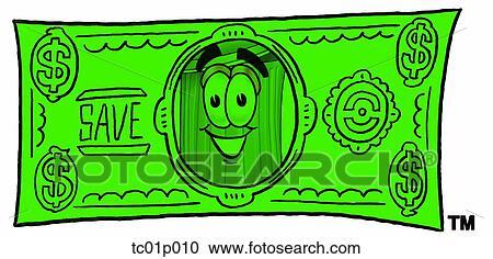 clipart poubelle sur dollar note tc01p010 recherchez des clip arts des illustrations. Black Bedroom Furniture Sets. Home Design Ideas