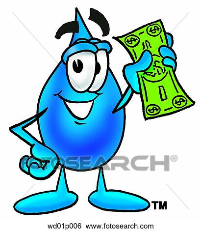 clip art of water drop with money wd01p006 search clipart rh fotosearch com Stacks of Money Clip Art Raining Money Clip Art