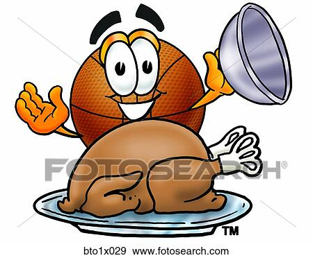 Clip Art of basketball with turkey bto1x029 - Search ...