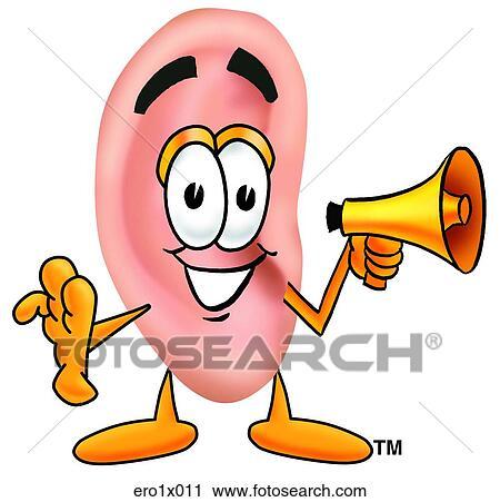 Clipart oreille porte voix ero1x011 recherchez des - Clipart oreille ...