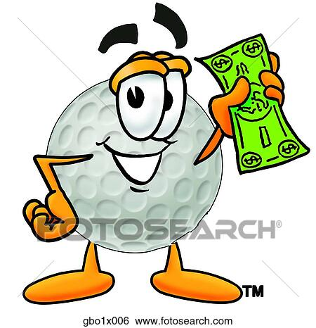 clip art of golf ball with money gbo1x006 search clipart rh fotosearch com free clipart golf ball free clipart golf ball