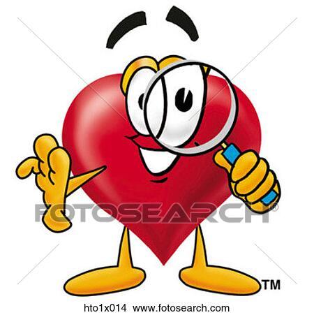 Clipart cuore con lente ingrandimento hto1x014 cerca for Clipart cuore