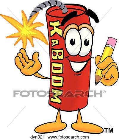 clipart of dynamite with pencil dyn021 search clip art rh fotosearch com clipart dynamite explosion dynamite clipart free