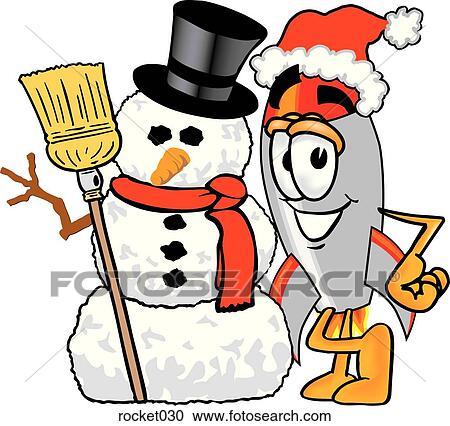 Clipart fus e bonhomme de neige rocket030 recherchez des clip arts des illustrations - Clipart bonhomme de neige ...