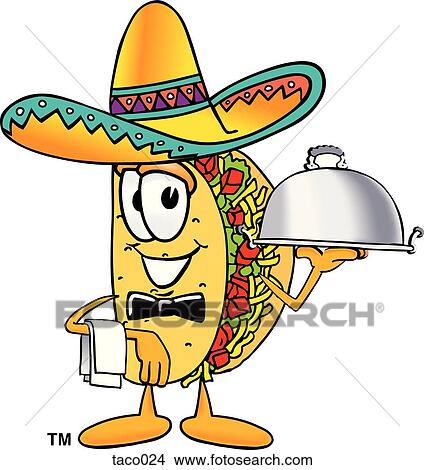 Clipart of taco serving food taco024 - Search Clip Art ...