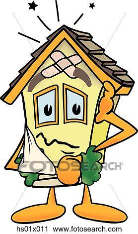 Clipart of House Needing Repair hs01x011 - Search Clip Art ...
