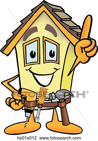 Clip Art of House Handyman hs01x012 - Search Clipart, Illustration ...