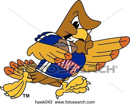 手绘图 - 鹰, 玩足球, 带, 愤怒, 脸图片