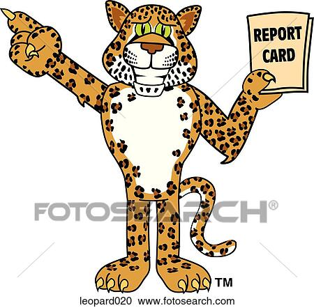Stock Illustrations of Leopard with Report Card leopard020 ...