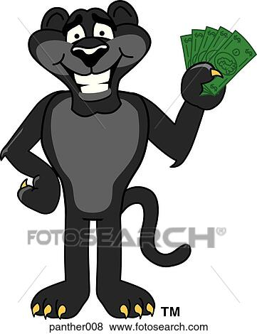 Stock Illustration of Panther holding Money panther008 - Search ...