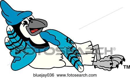 Stock Illustration of Blue Jay Relaxing bluejay036 - Search Clip ...