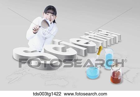 剪贴画 科学, 教育, 带, 孩子