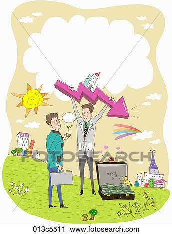 Clipart of illustration of supporting delinquent borrower ...