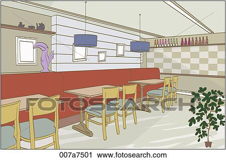 clipart of dining room illustration 007a7501 - search clip art