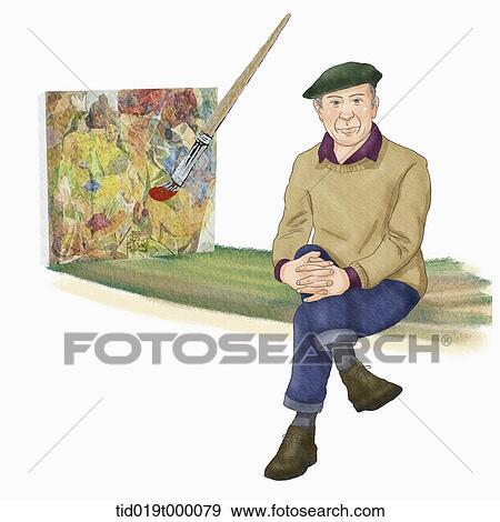 Stock Illustration of illustration of Pablo Picasso ...