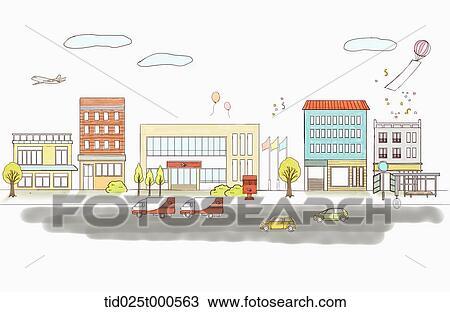 Disegno Illustrazione Di Ufficio Postale Tid025t000563