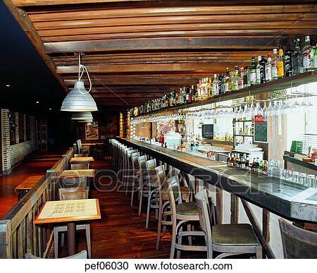 Stock Photography Of Building Construction Cafe Bar Commercial Interior Liquor Bottle