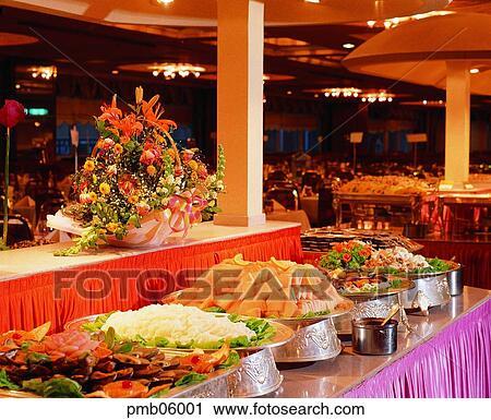 Stock Photography of buffet, buffet, feast, food, dish ...