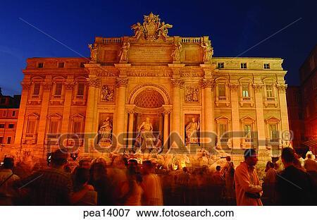 Roma Fontana di Trevi Foto Fontana di Trevi Moldura