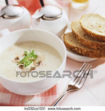 Stock Photography of Western food, food, dish, mushroom ...