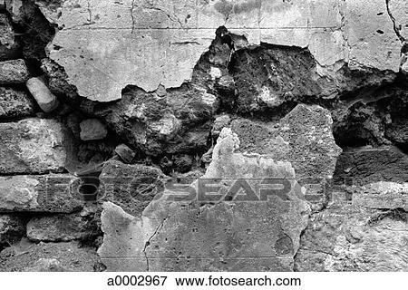 Image mur brique texture toqu cass ext rieur architecture a0002967 - Mur de brique exterieur ...