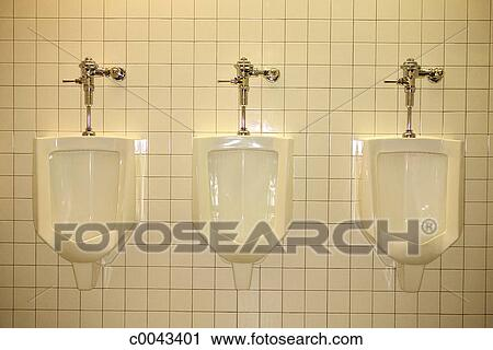 Stock Photography Of Urinals In A Restroom C0043401