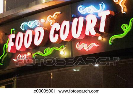 Stock Photography Of Food Court Sign E00005001 Search