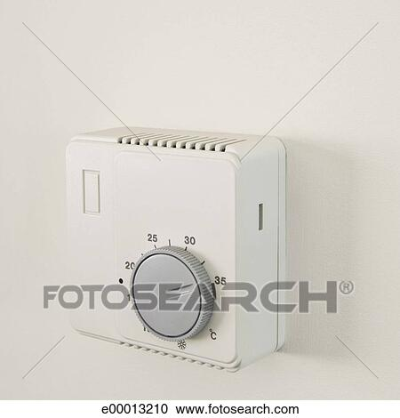 Stock photography of air conditioner thermostat e00013210 for Air conditionn mural
