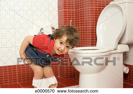 Stock Photography of Girl using toilet e0000570 - Search Stock Photos ...: www.fotosearch.com/THK223/e0000570