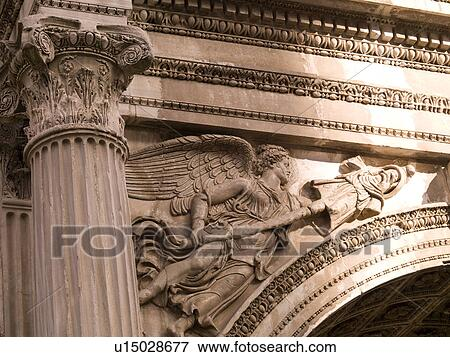Picture of Arch of Septimius Severus at the Forum in Rome ...