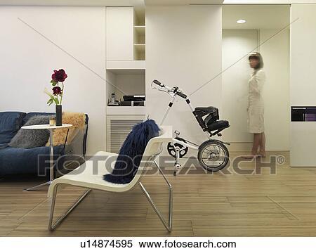 Stock afbeelding modern leven kamer met bamboe parket u14874595 zoek stock foto 39 s - Kamer parket ...
