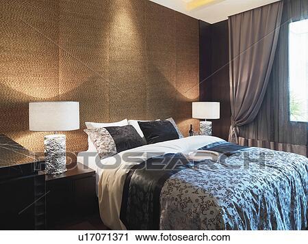 Archivio fotografico textured parete dietro letto for Parete dietro letto