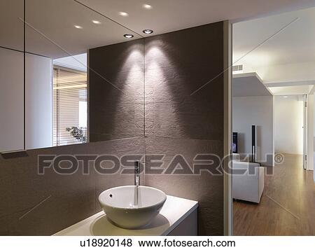 Immagini - ciotola, lavandino, in, bagno, e, pavimento ...