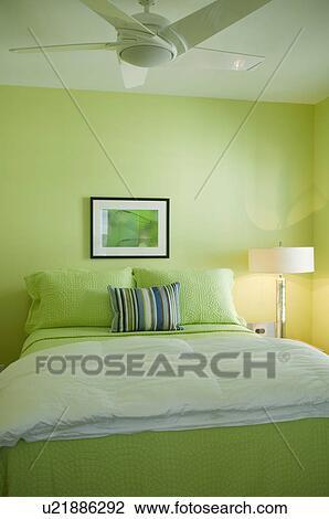Banque de Photo - vert lime, chambre à coucher u21886292 - Recherchez ...