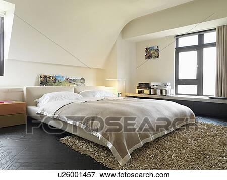 Billede   platform, seng, ind, moderne, soveværelse u26001457 ...