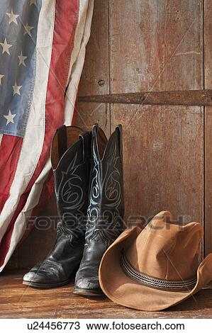 Stock Photo Of Cowboy Boots And Hat U24456773 Search