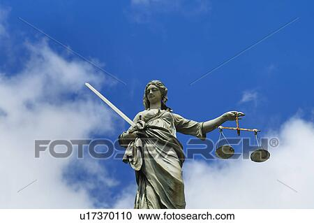stock photography of scales of justice statue u17370110