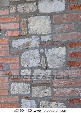 Stock Photography Of Close Up Detail Wall House Showing