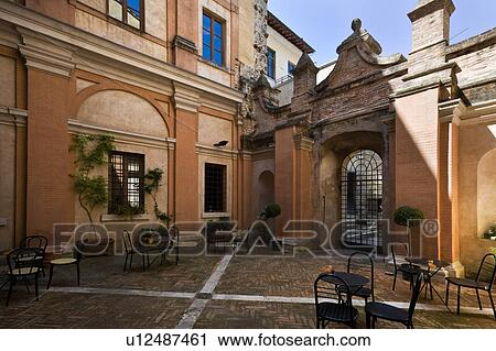 Stock Photography of Detail of inner courtyard of Italian ...