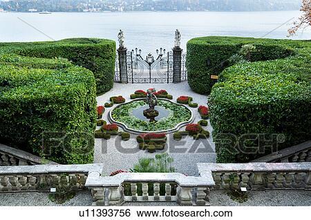 Archivio di immagini vista aerea di villa carlotta for Cabine spartiacque vista lago fontana