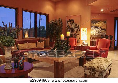 Stock Photo Of Living Room In Southwest Style Home U29694803 Search Stock Images Poster