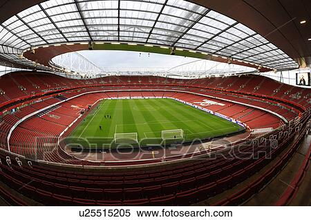 Stock image of england london arsenal inside the for Emirates stadium mural