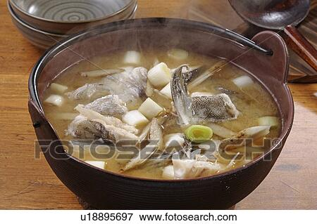Picture of soup with cod fish u18895697 search stock for Fish soup cod