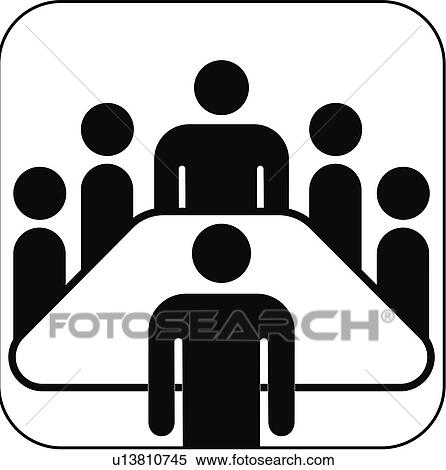 Stock Image of Meeting room symbol, artwork u13810745 - Search ...