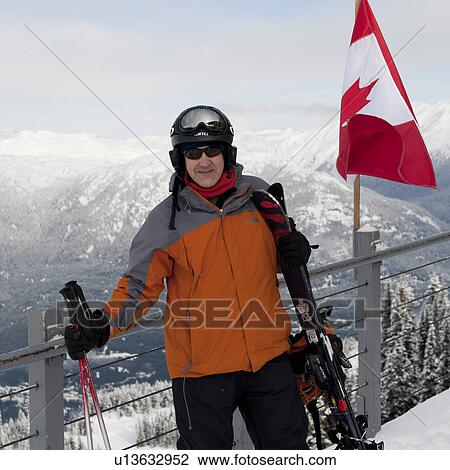canada whistler adult ski equipment