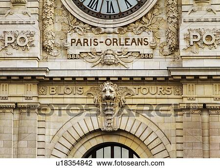 banque de photo horloge a gare paris orl ans station horloge paris france u18354842. Black Bedroom Furniture Sets. Home Design Ideas