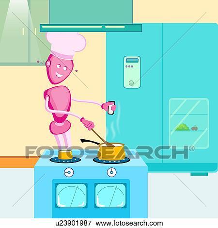 image robot cuisine dans cuisine u23901987 recherchez des photos des images des. Black Bedroom Furniture Sets. Home Design Ideas