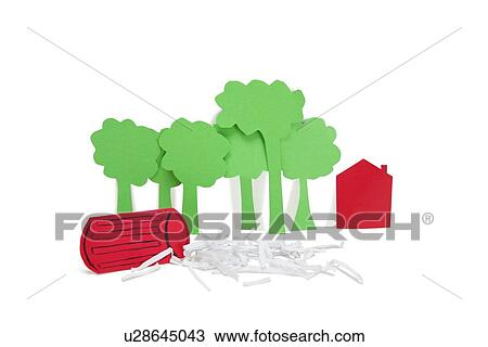 Stock Photo of Paper cut outs representing concept of
